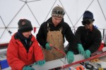 Ice core processing