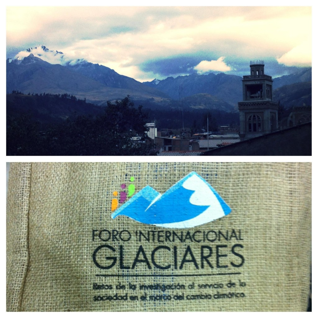 A beautiful view out the window from the Foro Internacional Glaciares