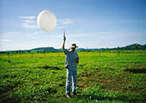Weather balloon launch in Brazil