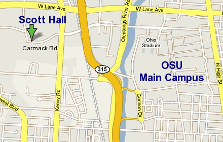 Scott Hall local (campus) map